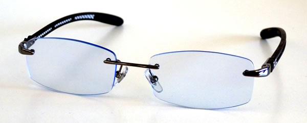 e44bba9fcb2e28 ... avec des verres à la vue teintés en bleu. rayban tech bleu Lunettes  pour voir la vie en bleu